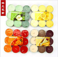 Wholesale 14 grams gradient smokeless aromatherapy tea candles wedding romantic installed