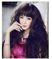Wholesale Cheap Stylish Wigs - Lady Wigs Cheap Wigs For Women Synthetic Wigs Synthetic Hair 3 Color Stylish Lady Wavy Wigs Lace03