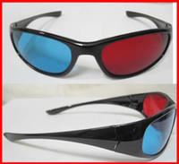 Wholesale 10Pair Red Cyan Blue D GLASSES Plastic for movie game