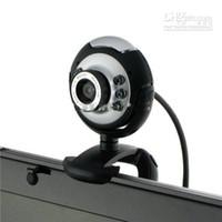 5pcs / lot USB 30,0 M 6 LED Webcam Caméra Web Cam avec micro pour PC, Ordinateur portable
