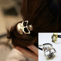 Wholesale Fashion Cool Punk Personality Skull Head Hair Holder Band H36