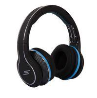 achat en gros de rue sms via un casque d'oreille-Signature Street de 50 Cent casque Over-Ear Headphones Wired Headset Noir mat De SMS Audio