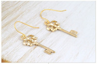 Wholesale Key Earrings Japan And South Korea Jewelry Dangler Alloy Earring