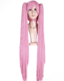 Wholesale Retail Cheapest Sample New Style Cosplay Wig Pink Long Animation Hair