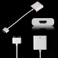 Wholesale Newest iPad3 iPad2 Iphone G S G Itouch to HDMI connection cable tieline adapter vga to HDTV