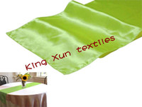 Wholesale 50pcs Apple Green satin table runner table runner satin runner price
