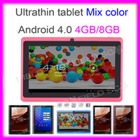 Wholesale 7 quot Allwinner A13 Epad Android Q88 Q8 Capacitive Touchscreen USB G Flash Youtube F1 Tablet