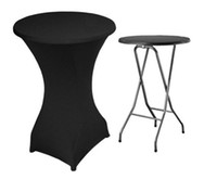 Wholesale Black lycra spandex table cover Cocktail spandex table cover
