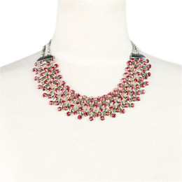 Rhinestones jewelry necklace,3 colors avaiable NL-1894
