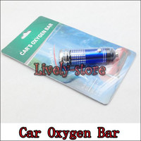 Wholesale 5pcs Mini Auto Car Fresh Air Purifier Oxygen Bar Ionizer Car s Oxygen Bar blue red black