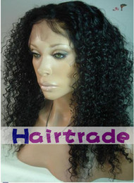 Wholesale Kinky Curl Malaysian Virgin Hair no Shedding Lace Front Wigs Customize