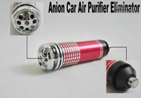 Wholesale DHL Mini Auto Car Fresh Air Purifier Oxygen Bar Ionizer Car s Oxygen Bar colors