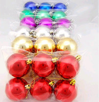 Wholesale mix colors Christmas balls ornaments cm cm cm Christmas balls christmas tree decorations
