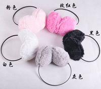 Wholesale Many Color Faux Rabbit Fur plush earmuff ear muffs
