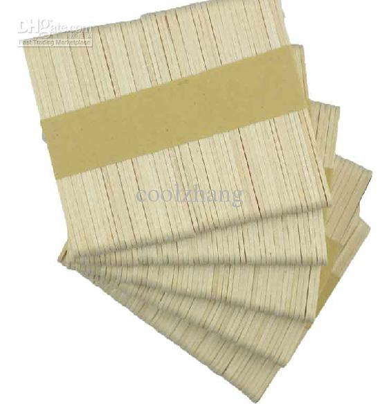 Ice-cream Bar Popsicle Stick Wooden Veneer Thin Wood DIY Model Building Tool Material Free Shipping