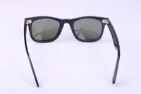 Wholesale High Quality Plank black Sunglasses glass Lens Black Frame Green Lens Plank Sunglasses beach sunglasses Fashion Sunglasses