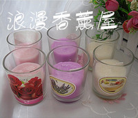 Wholesale Glass wax Aromatherapy candles hours Crafts Outdoor candle Prevent the wind