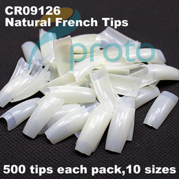 Wholesale Freeshipping Natural Nails tips French Nail Tips False Nail Art AcrylicTips Wholesales A0008X