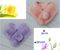 Rectangular rabbit fur scarves - Autumn and winter Korean version female models warm scarf imitation rabbit fur scarf