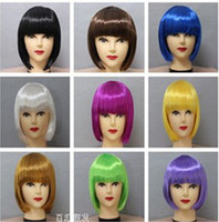 Wholesale Fashion synthetic party wigs colorful festival Halloween wigs can mix colors pink