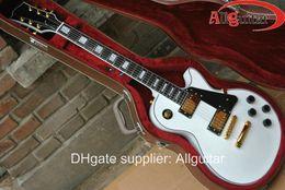 Wholesale custom shop Alpine white ebony electric guitar gold hardware in stock