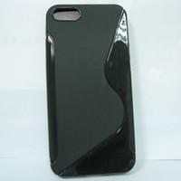 Compra Cubierta de la piel del caso iphone5-S Line cristalinas de la jalea de la piel suave del gel TPU para el iPhone 5 iPhone5 envío libre