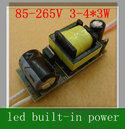 20pcs 4*3W hight power LED Driver 12W Led built-in Driver Power Supply for LED spotlight Lamp Consta