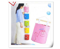 Wholesale Hanging Hang Up Bag Home Stuff Storage Bag Organizer Case Wall Door Pouch cartoon saddlebag