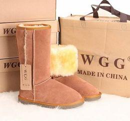 Longue en cuir femmes boot en Ligne-Bottes de neige de qualité longue femmes bottes d'hiver en cuir véritable taille 35 à taille 44