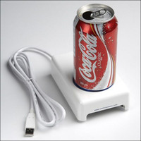 Wholesale 50pcs USB refrigerators usb cup warmer Cooler Mini PC Fridge Beverage Drink Cans for car using
