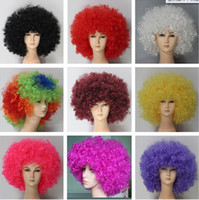 Wholesale Halloween wigs Fans wig festival party wigs Afro style wigs multicolor colors