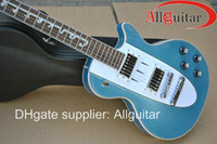 al por mayor corvette-Custom Shop 1960 Corvette música metálica azul guitarra eléctrica de China Guitar
