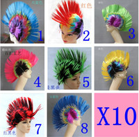 Wholesale Halloween Wig Fake Hair Wig Wonderful Cockscomb Cosplay Party Fancy Dress Hot Selling