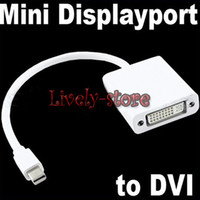 Wholesale 10pcs Mini DisplayPort DP display port M to DVI Adapter converter Cable for MacBook Pro Air