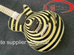 custom Wylde Vertigo yellow bullseye Electric Guitar 2012 new arrival