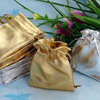 Wholesale Gold amp Silver x7cm Drawstring Organza Bag Jewelry Bag Organza Pouc