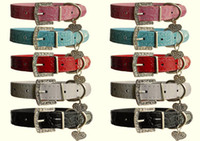 (5 COLORS 4 SIZES) Mixed Dog cat Puppy Pet PU Croc Leather C...