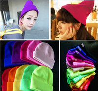 Wholesale 2012 Fluorescent caps Cotton Material Christmas Gift Knitting Fashion Cute Winter warm hats