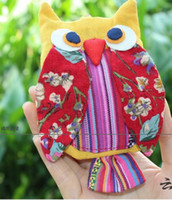 Wholesale NEW Handmade OWL Bag Handmade craft owl bag kids Coin Purses satchel