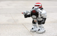 Wholesale 2013 hot multi function infrared remote control robot toys programmable walk launch UFO special