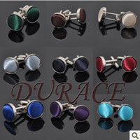 Wholesale Metal yarn dyed solid color mercerizing cloth buckle men cufflinks colors