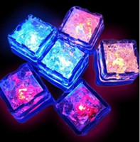 Wholesale Christmas DEC square colorful luminous ice lamp LED light Halloween Festival supplies plastic