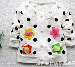 Wholesale 4PCS Hot Sweet flower girls long sleeved coat contracted girls coat children clothing baby clothes