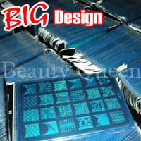 al por mayor xl estampado de una plancha imagen-¡Diseño GRANDE !! XL Nail Stamping Plate Sello 328 Diseños (CK09 - CK18) Plantilla de impresión de plantilla de imagen