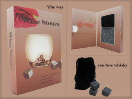 Wholesale Whisky Stones Whiskey Rocks 9pcs Set in a Paper Gift Box (R) Christmas Valentine's Father's Business Gift