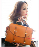 Wholesale 2012 Fashion OL Lady Women Faux Leather Messenger Shoulder Handbag Purse Clutch Bags