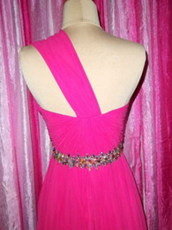Best Selling Rose One Shoulder Beaded Waist Ruched High-low Skirt Cocktail Dress Charming Party Gowns Custom Made Free Shipping