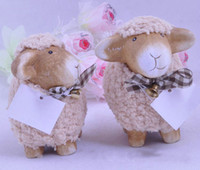 Wholesale Hot Items for Christmas Household Ornaments Resin Craft Couple of Sheep Christmas gifts set