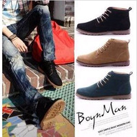 Wholesale New winter trend men s matte leather boots England fashion boots high to help men s boots