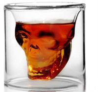 Wholesale Skull Shot Glass Wineglass For Whiskey Skeleton Head Cup For Hallowmas Bar